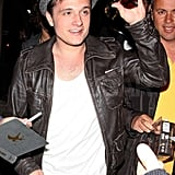 Josh Hutcherson waved at fans.