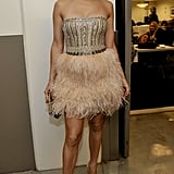 Backstage at the American Music Awards in November 2009