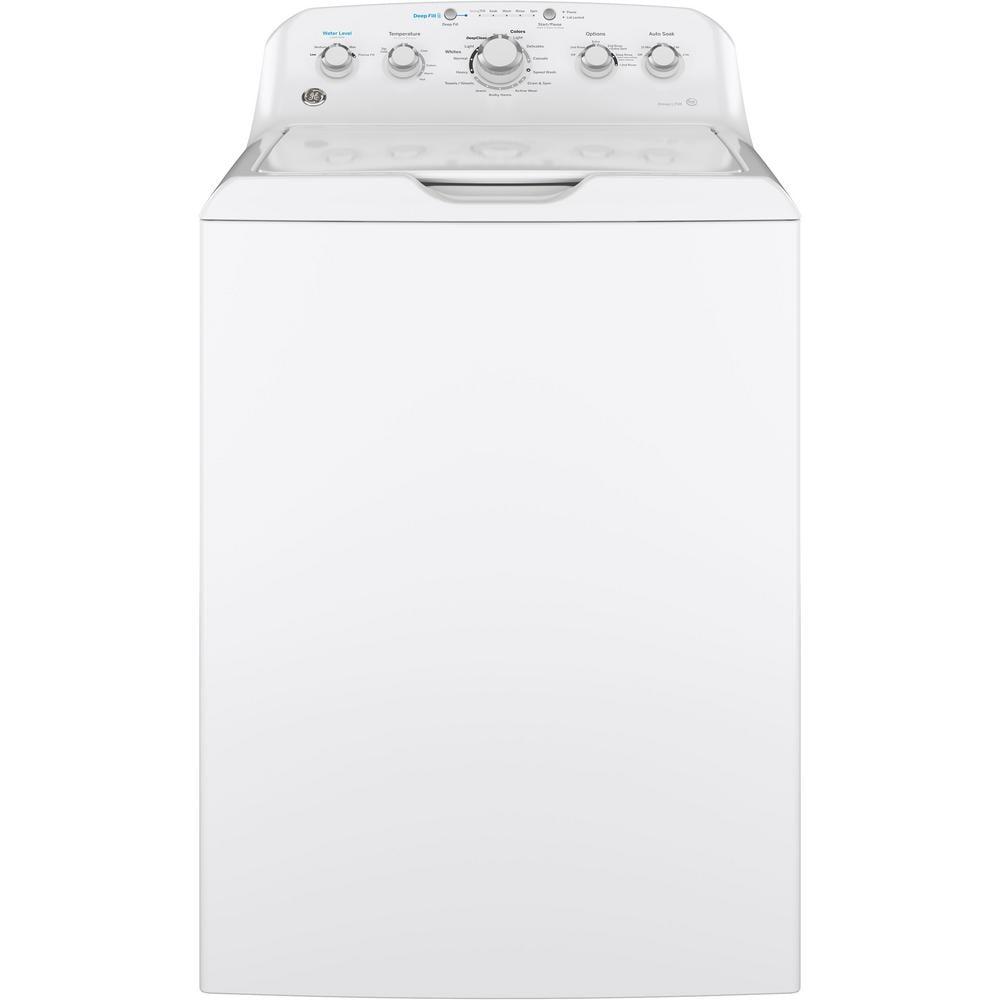 GE High-Efficiency White Top Load Washing Machine