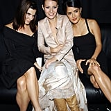 She partied with Sandra Bullock and Salma Hayek at the VH1/Vogue Fashion Awards in NYC in October 2001.
