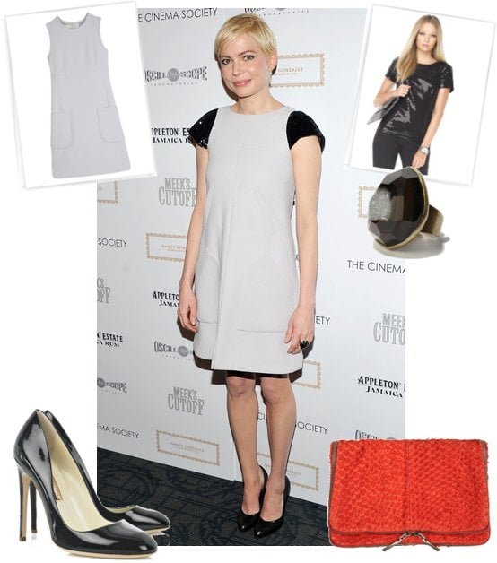 Photos of Michelle Williams Wearing Chanel Couture at Meek's Cutoff Premiere in NYC