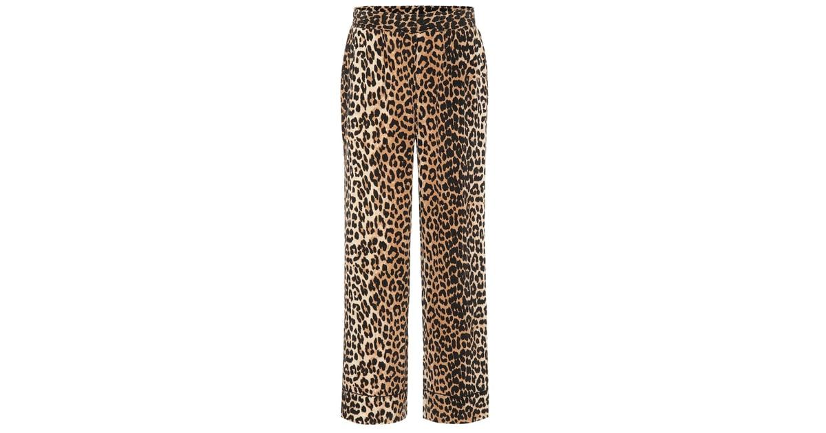 58baa4ea Ganni Fayette Leopard-Printed Silk Trousers | How to Wear Leopard Print |  POPSUGAR Fashion Photo 38