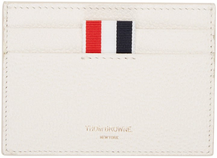 Thom Browne Ivory Leather Card Holder ($290)