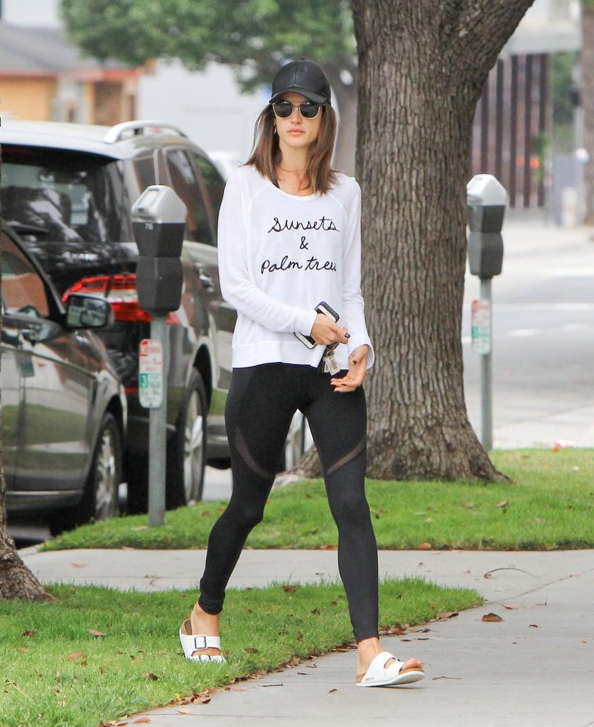 Alessandra Ambrosio Wearing Birkenstock Sandals May 2016