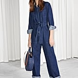 & Other Stories Denim Overall Jumpsuit