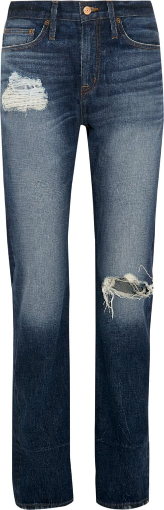 Distressed High-Rise Boyfriend Jeans ($300)