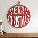 Merry Christmas Ornament Wall Decor ($40)