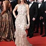 Georgina Chapman was a vision in one of her own Marchesa designs at the Hands of Stone premiere.