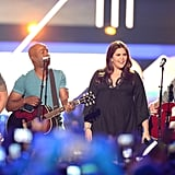 Darius Rucker performed with Lady Antebellum.