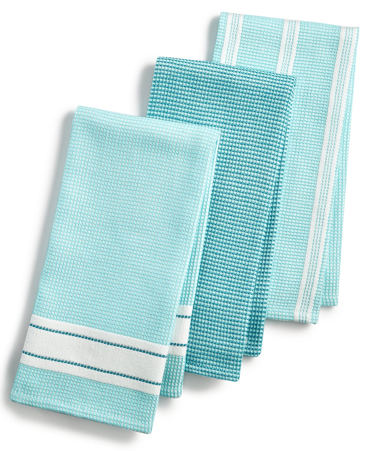 Martha Stewart Collection Set of 3 Waffle Weave Kitchen ...