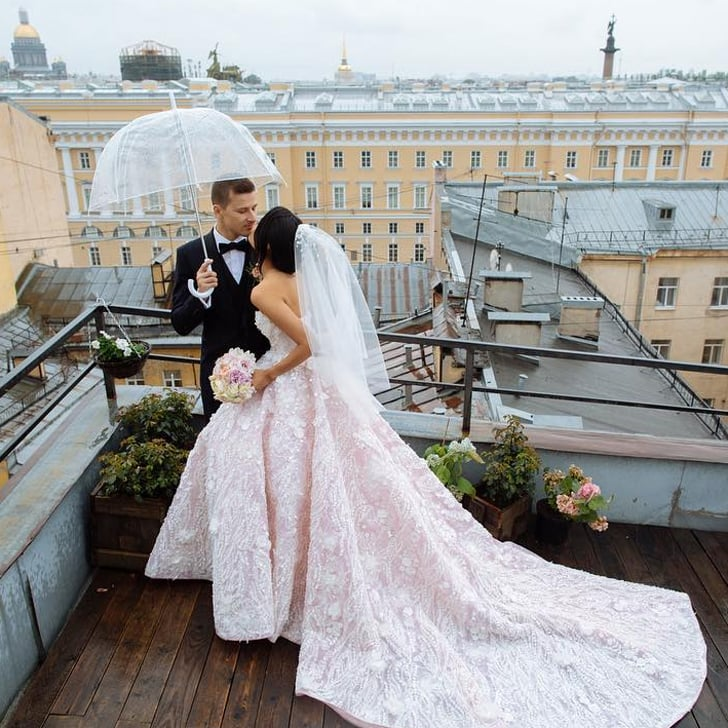 Yulia Saparniiazova Wearing Malyarova Olga Wedding Dress | POPSUGAR ...