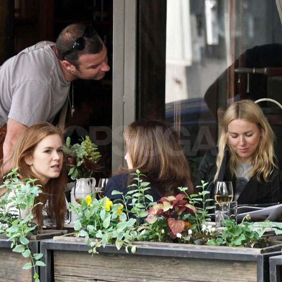 Isla Fisher and Naomi Watts Have a Ladies Lunch With a Visit From Liev