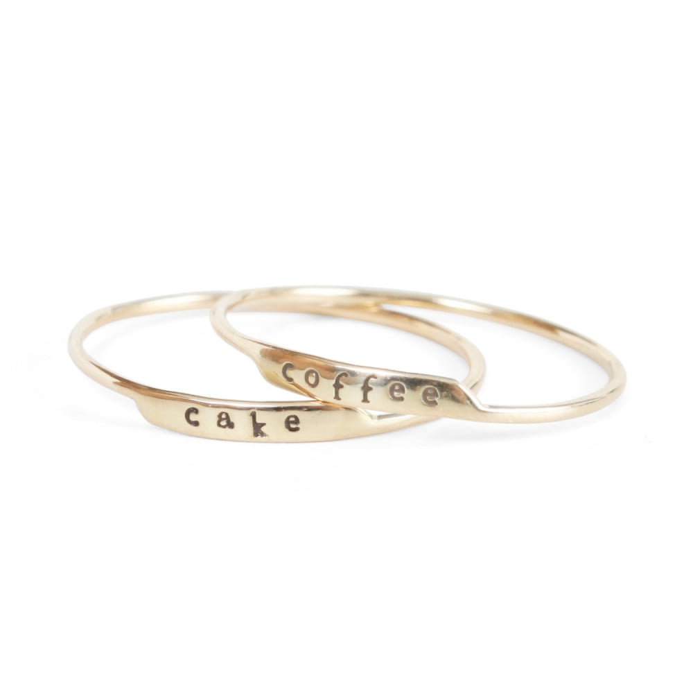An understated ring will match any outfit, and this Bittersweets Famous Letter Ring ($144) is the perfect amount of fun.