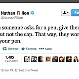 Actor Nathan Fillion offers a very useful life tip.