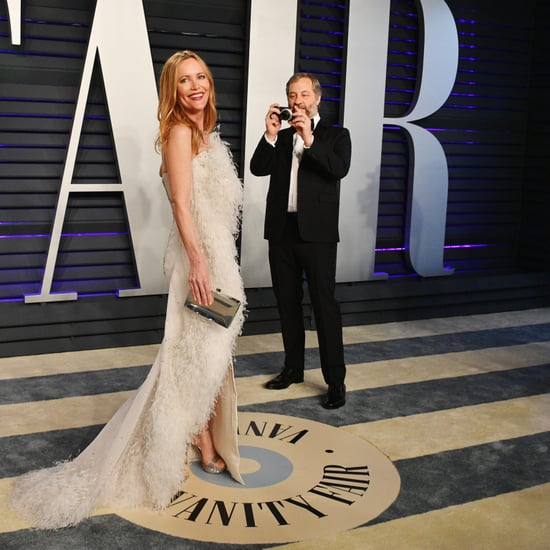 Judd Apatow and Leslie Mann at the Vanity Fair Oscar Party