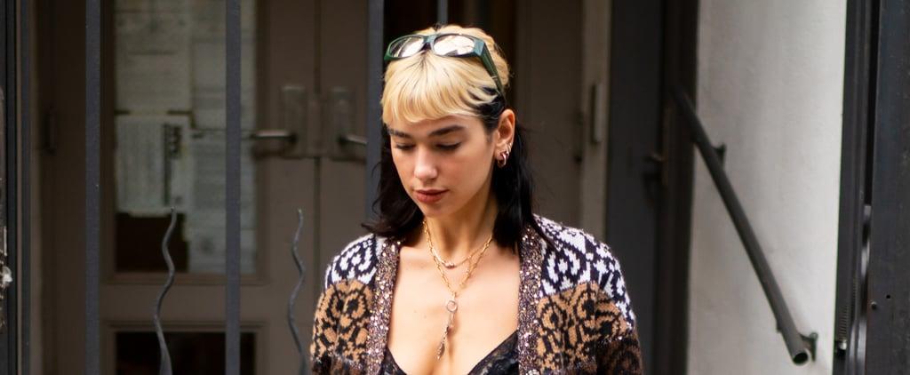 Dua Lipa Reveals Her New Fringe Is Due to Bleach Damage