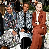 Halima Aden, Liya Kebede, and Emily Blunt at the Tory Burch New York Fashion Week Show