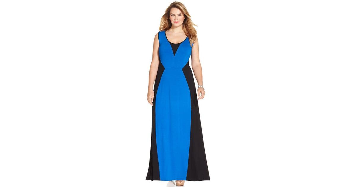 Ny Collection Plus Size Colorblock Dress Plus Size Dresses For