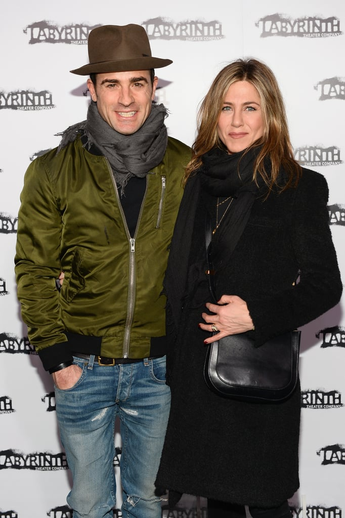 Jennifer Aniston and her husband, Justin Theroux, opted for a sweet couple's arrival at the Labyrinth Theater Company's annual celebrity charades gala in NYC on Monday. The event features a handful of stars playing a game of speed charades and benefits the theater's development programs and productions. Jennifer and Justin kept close while posing for photos and were joined by pals Jerry O'Connell and Justin Long. Also in attendance were Padma Lakshmi and Bobby Cannavale, who is expecting his first child with girlfriend Rose Byrne.  Jennifer recently made headlines when she appeared in an Instagram snap with Justin Bieber last week. While it's unclear exactly where the picture was taken, Justin had been guest starring on The Ellen DeGeneres Show, where Jennifer later surprised Ellen DeGeneres for the 2,000th episode of her show. Keep reading to see more photos from the annual soirée, and then check out Jennifer's stunning Hollywood evolution.