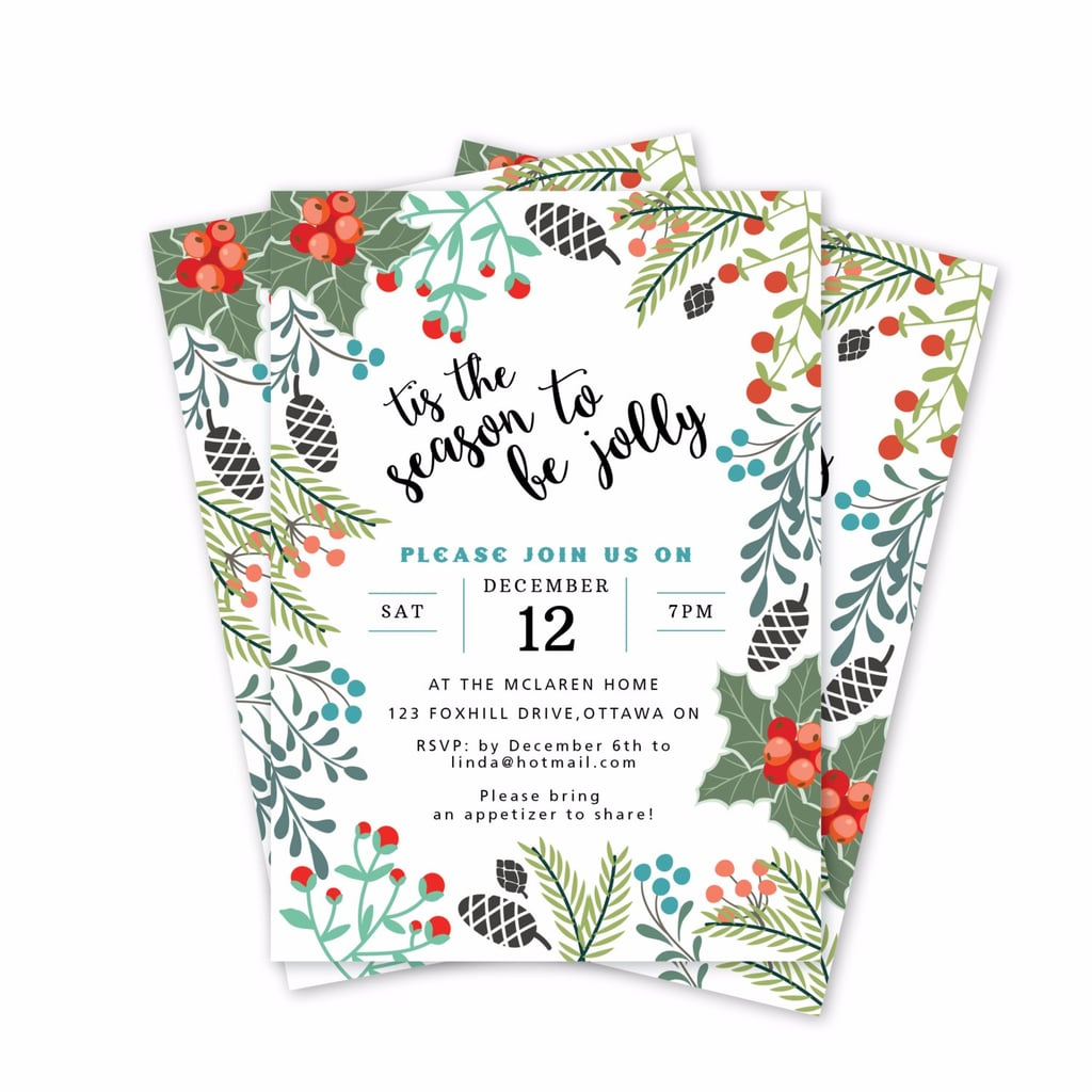 Printable Holiday Party Invitations POPSUGAR Smart Living