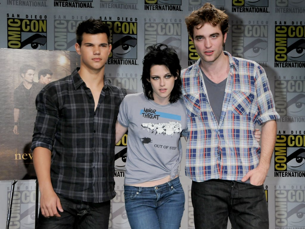 Robert Pattinson, Kristen Stewart, and Taylor Lautner attended Comic-Con together in 2009.