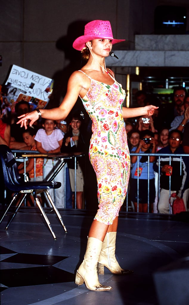 Britney Spears went floral for a performance on The Today Show in June 2000.