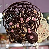 Chocolate-Lace Lollipops