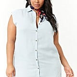 Forever 21 Plus Size Chambray Shirt Dress