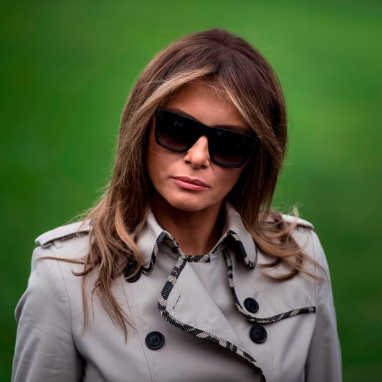 Melania Trump Trench Coat With Contrast Trim