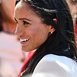 Meghan Markle Wearing Queen Elizabeth II Earrings June 2018