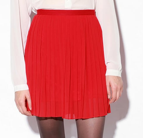 Sparkle & Fade Pleated Chiffon Miniskirt ($49)