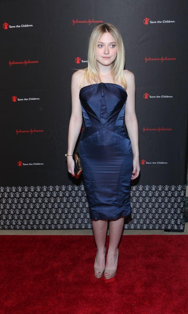Even on the Red Carpet, Dakota Loves to Wear Blue