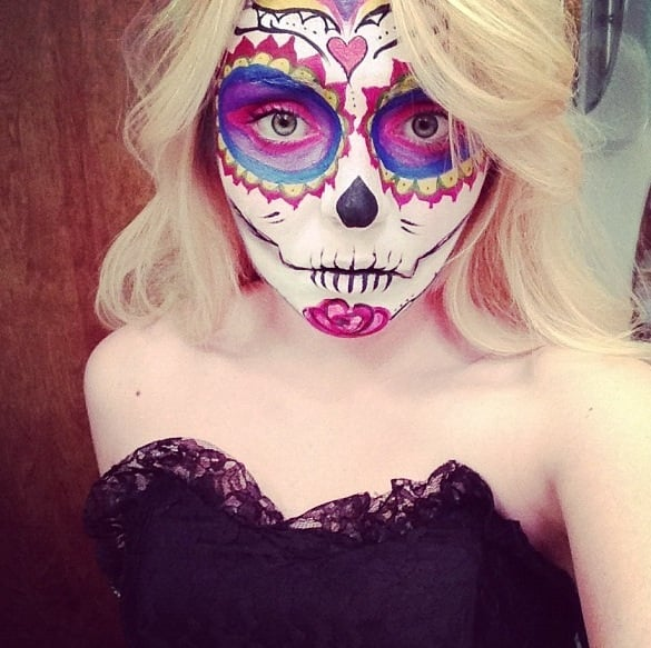 Sweet Skull | Halloween Makeup Ideas From Reddit | POPSUGAR