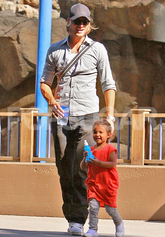 Pictures of Gabriel Aubry and Nahla at the Zoo
