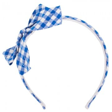 Channel Suri Cruise's style in Il Gufo's chic gingham headband ($36).
