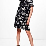 Boohoo Maternity Cally Floral Printed Cap Sleeve Shift Dress