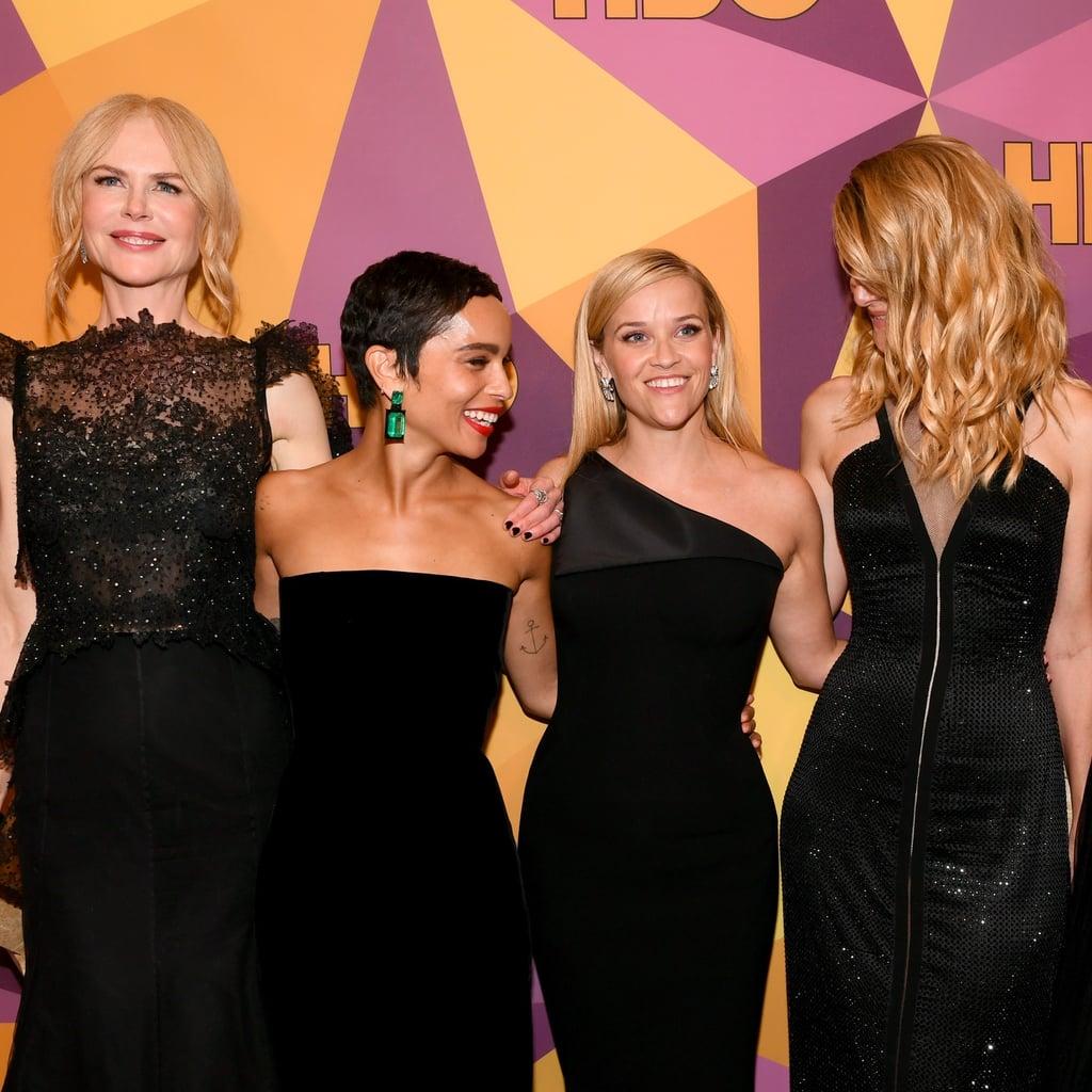 the cast of big little lies at the 2018 golden globes | popsugar