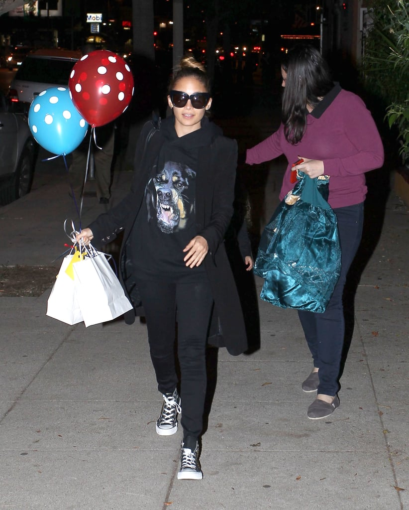 Nicole Richie and Harlow Madden left Bronx Wentz's birthday party together.