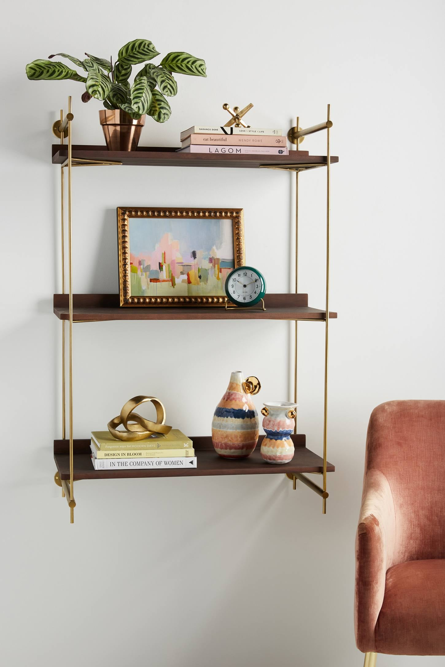 Astoria Wall Mounted Shelving Unit Anthropologie Just Blew