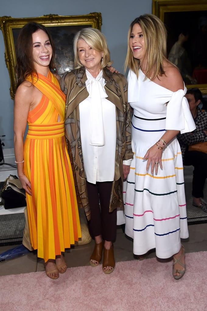 Pictured: Jenna Bush, Martha Stewart, and Barbara Bush