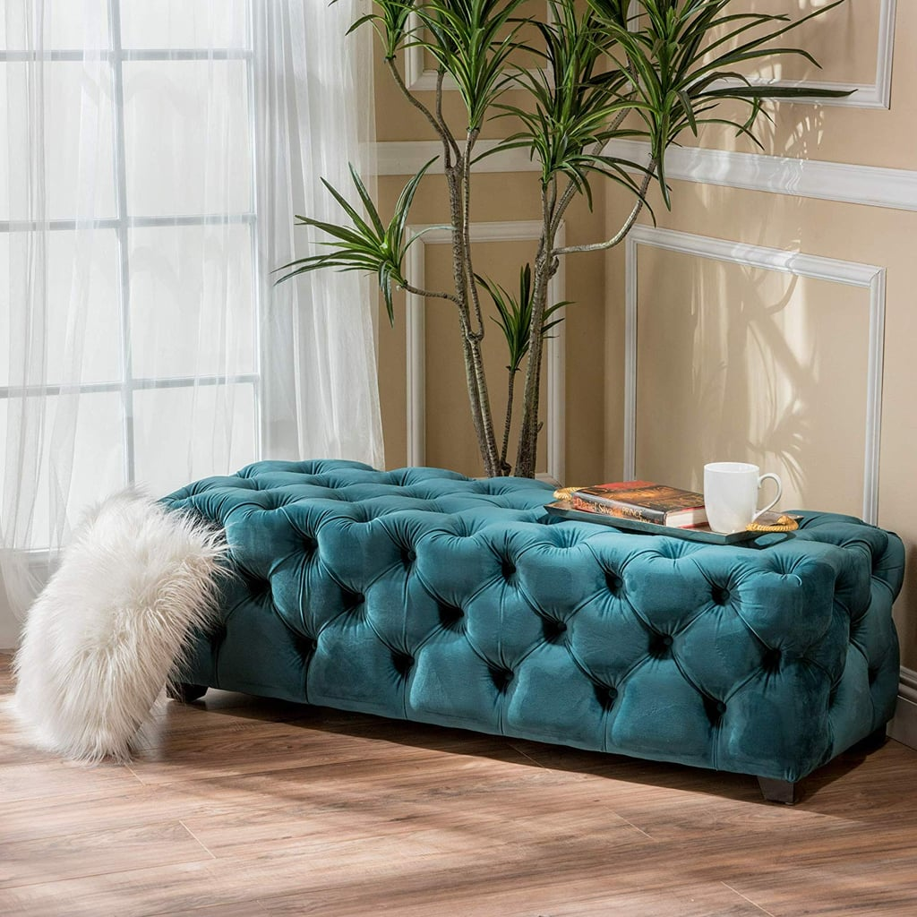 Great Deal Furniture Tufted Velvet Bench