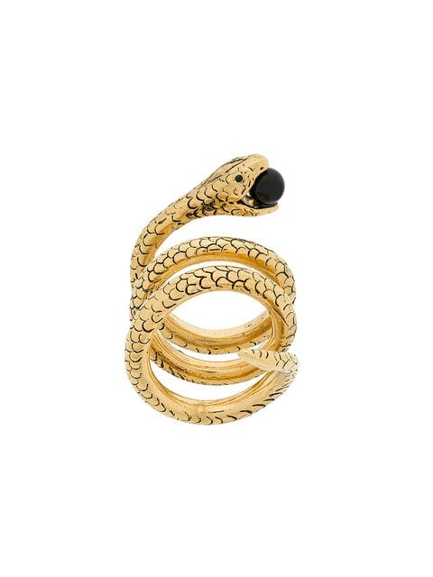Saint Laurent Snake Wrap-Around Ring