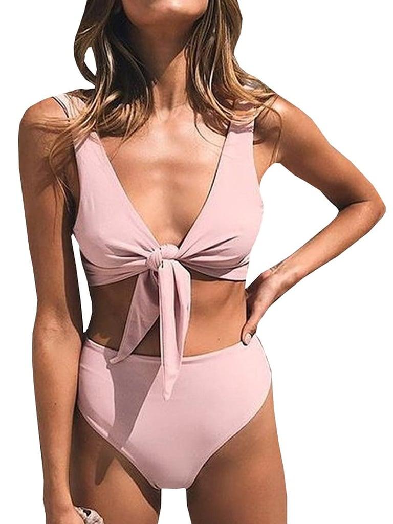 Pxmoda Knot-Front High-Waisted Bikini