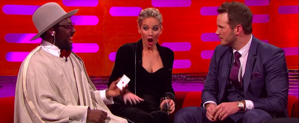 The Crazy Twist in Chris Pratt's Failed Magic Trick Makes Jennifer Lawrence Freak Out