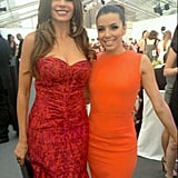Sofia Vergara and Eva Longoria posed together in bright dresses at Glamour UK Women of the Year Awards.  Source: Sofia Vergara on WhoSay