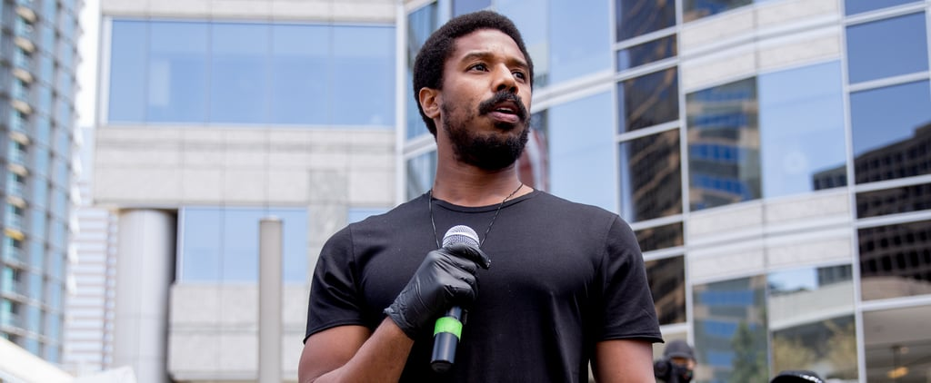 Michael B. Jordan Speaks at Black Lives Matter March in LA