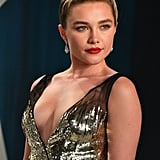 Florence Pugh's Gold Dress at the Oscars Afterparty 2020