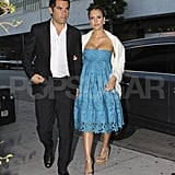 Jessica Alba and Cash Warren head to Katherine Power's wedding.