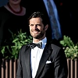 Prince Carl looked dapper during a private dinner ahead of Princess Madeleine's June 2013 wedding.