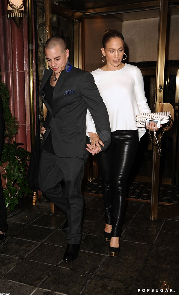 Jennifer Lopez and Casper Smart left dinner together in NYC.
